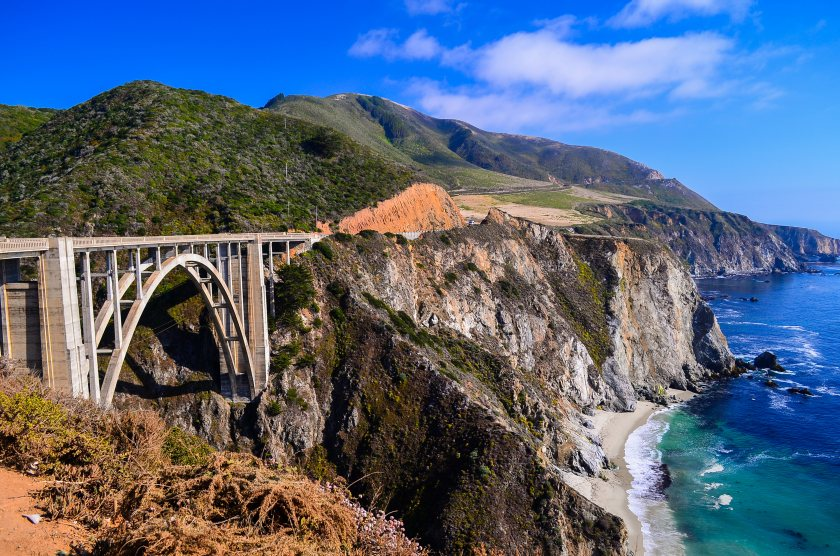 Bixby Bridge na California State Route 1